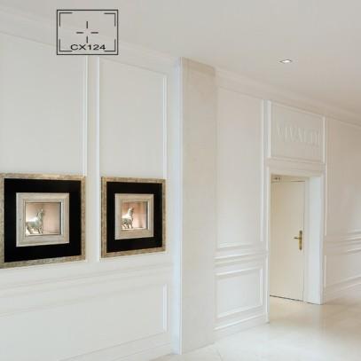 Molduras y cornisas decorativas papeles pintados - Molduras para paredes interiores ...