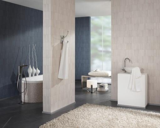 Papel pintado baño stones & style